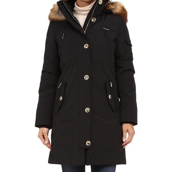 Michael Kors Women's Black Parka Coat