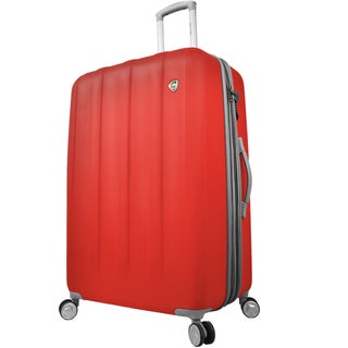 Mia Toro Italy Mezza Tasca 24-inch Expandable Hardside Spinner Upright Suitcase (Option: Red)