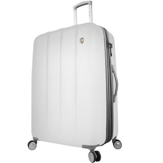 Mia Toro Italy Mezza Tasca 24-inch Expandable Hardside Spinner Upright Suitcase (Option: White)