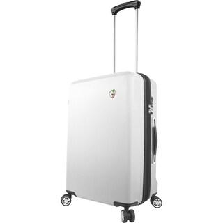 Mia Toro Italy Fibre Di Scatola 25-inch Expandable Hardside Spinner Upright Suitcase (Option: White)