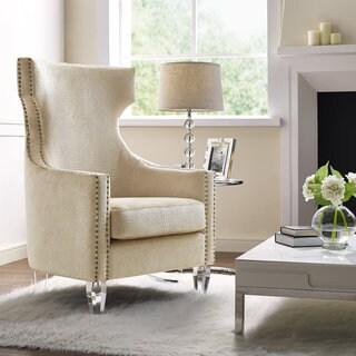 Gramercy Gold Croc Velvet Wing Chair