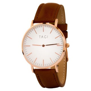 TAGI Women's Classic Brown Leather Watch