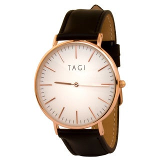 TAGI Women's Classic Black Leather Watch