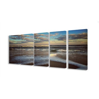 Stupell Ocean Shore Landscape 5-piece Canvas Art Set