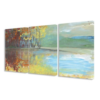 Stupell Painted Look Trees in Autumn 3-piece Triptych Canvas Art Set