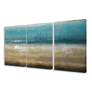 Stupell Twilight Coast 3-piece Triptych Canvas Art Set