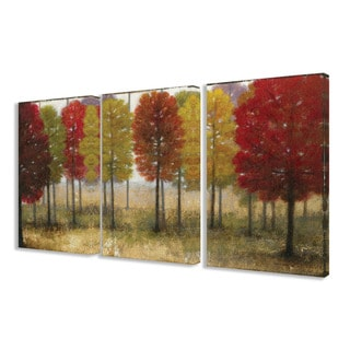 Stupell Painted Autumn Grove 3-piece Triptych Canvas Art Set