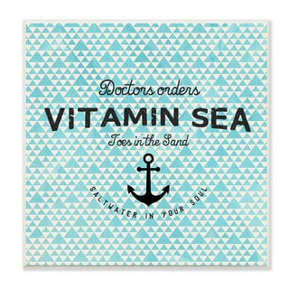 Stupell Vitamin Sea Saltwater in Your Soul with Anchor Art Wall Plaque