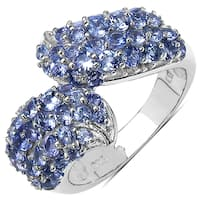 Malaika Sterling Silver 2 1/10ct TGW Genuine Tanzanite Ring