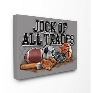 Stupell Jock of All Trades Sports Balls Art 16-inch x 20-inch Canvas