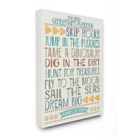 Stupell The Little Gentleman's Playbook Typography Art Canvas