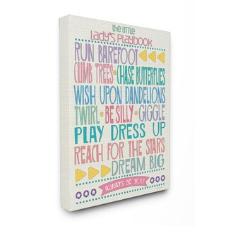 Stupell The Little Lady's Playbook Typography Art 16-inch x 20-inch Canvas