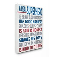Stupell A Real Superhero Typography Art 16-inch x 20-inch Canvas