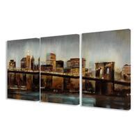 Stupell Home Decor Collection Lights on Bridge Triptych Canvas Art Set