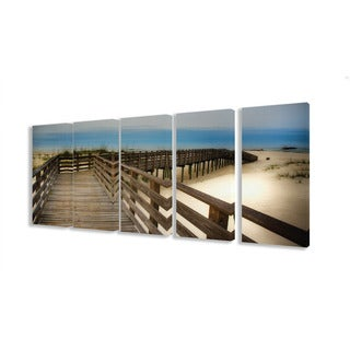 Stupell Bridge To The Beach and Sand 5-piece Canvas Art Set