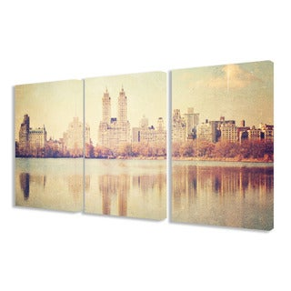 Stupell Central Park Overlook Photographic 3-piece Triptych Canvas Art Set
