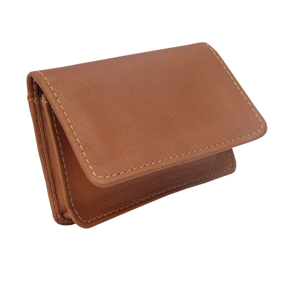Piel Leather Business Card I D Case Free Shipping