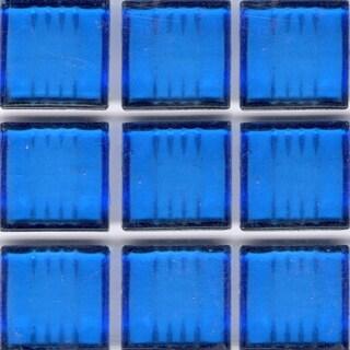 Clear Blue Glass Brio 3/4-inch Mosaic Tile