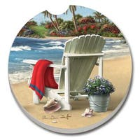 Counterart Absorbent Stone Car You Can Dream Beach Chair   Coaster (Set of 2)