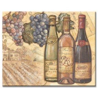 Counterart Glass Vineyards Wine Bottle Design 12x15-inch Cutting Board