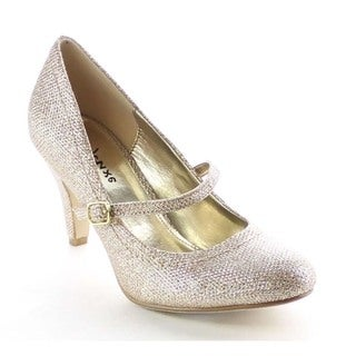 Beston BA20 Women's Low Heel Mary Jane Glitter Pumps