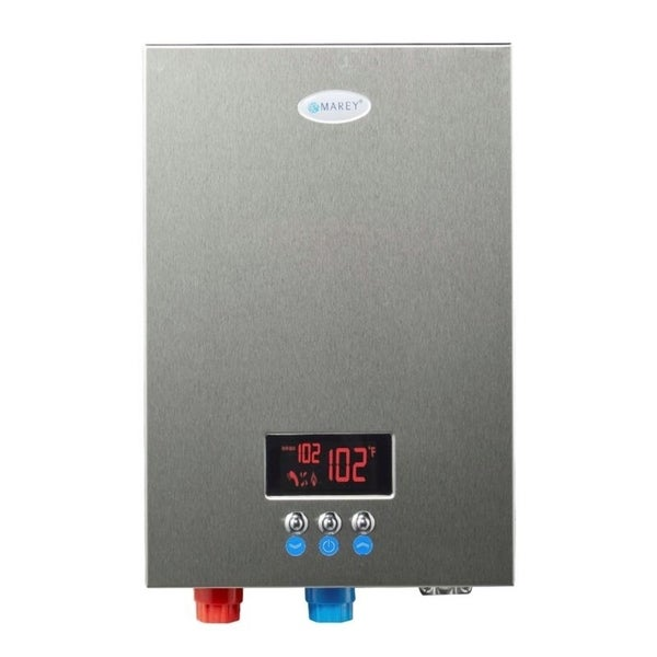 Shop Marey Eco180 Electric Tankless Water Heater 18kw 220v Off White Free Shipping Today