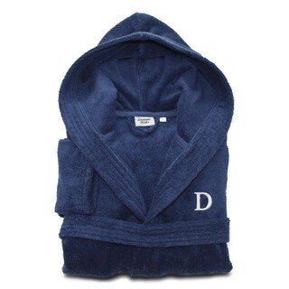 Sweet Kids Midnight Blue with White Monogram Turkish Cotton Hooded Terry Bathrobe|https://ak1.ostkcdn.com/images/products/10866571/P17904685.jpg?_ostk_perf_=percv&impolicy=medium