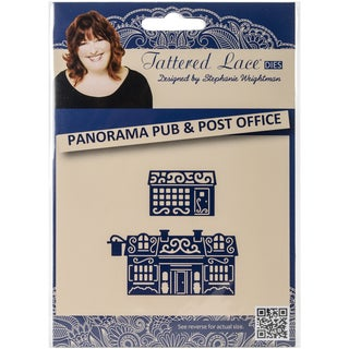 Tattered Lace Metal Die-Panorama Pub And Post Office