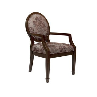 Madison Park Tanya Brown Multi Exposed Wood Arm Chair