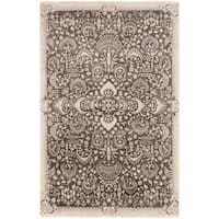 "Hand-Knotted Wilton Floral Wool Area Rug - 5'6"" x 8'6"""