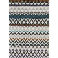 Hand-Woven Hornsey Tribal New Zealand Wool Area Rug - multi - 2' x 3'