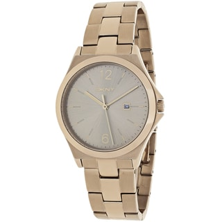 DKNY Women's NY2368 Parsons Round Goldtone Stainless Steel Bracelet Watch