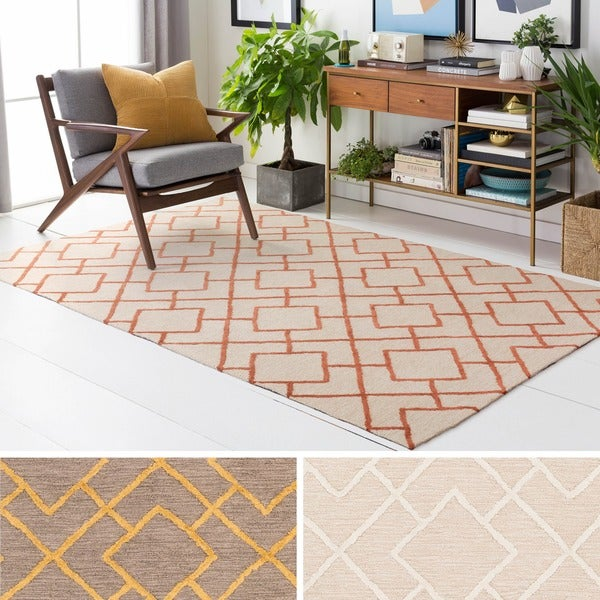 Micro-Looped Banbury Crosshatched Cotton Area Rug (2' x 3')