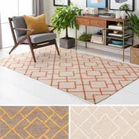 Micro-Looped Banbury Crosshatched Cotton Area Rug (5' x 7'6)