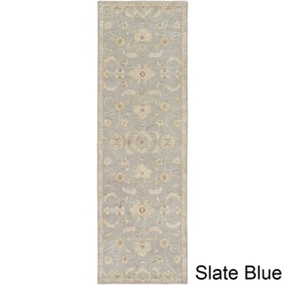 Hand-Tufted Wigton Floral Wool Rug (3' x 12')