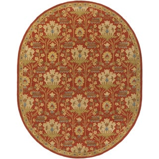 Hand-Tufted Widnes Floral Wool Rug (6' x 9' Oval)