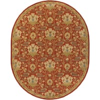 Copper Grove Kavir Hand-Tufted Floral Wool Oval Area Rug - 6' x 9'