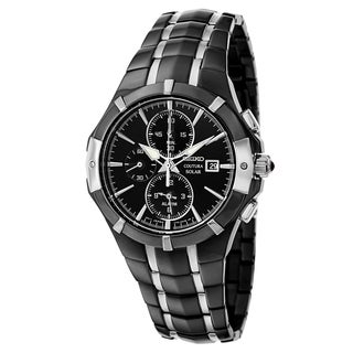 Seiko Coutura SSC199 Men's Black Stainless Steel Watch