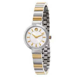 Movado Women's 0606891 Stainless Steel Dress Watch|https://ak1.ostkcdn.com/images/products/10866772/P17904852.jpg?impolicy=medium