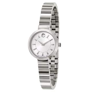 Movado Women's 0606890 Stainless Steel Dress Watch|https://ak1.ostkcdn.com/images/products/10866773/P17904853.jpg?impolicy=medium