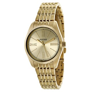 Pulsar Easy Style PG2010 Women's Stainless Steel Yellow Gold Plated Watch