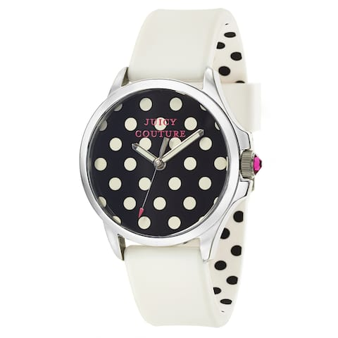 Juicy Couture 1901221 Female White Rubber 38MM Quartz Analog Watch