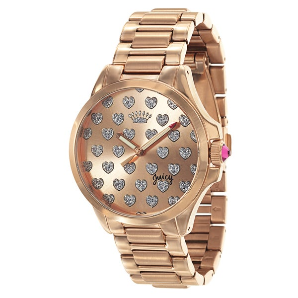 Juicy Couture Jetsetter 1901253 Womens Stainless Steel Rose Gold