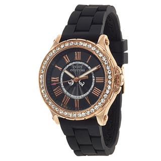 Juicy Couture Pedigree 1901055 Women's Stainless Steel Rose Gold Ion Plated Watch|https://ak1.ostkcdn.com/images/products/10866793/P17904871.jpg?impolicy=medium