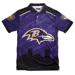 Forever Collectibles Baltimore Ravens NFL Polyester Thematic Polo Shirt