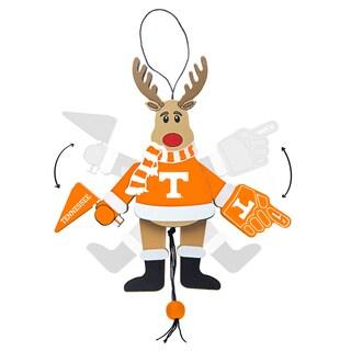 Tennessee Volunteers Wooden Cheering Reindeer Ornament