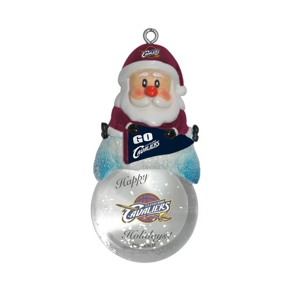 Cleveland Cavaliers Santa Snow Globe Ornament