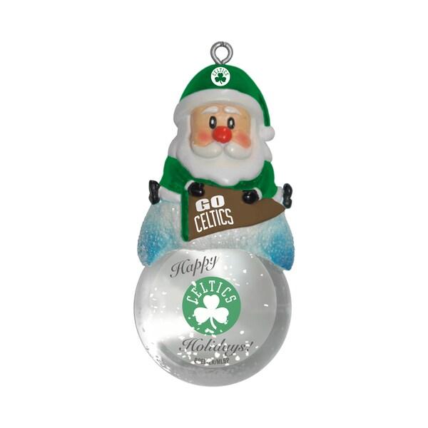 Boston Celtics Santa Snow Globe Ornament