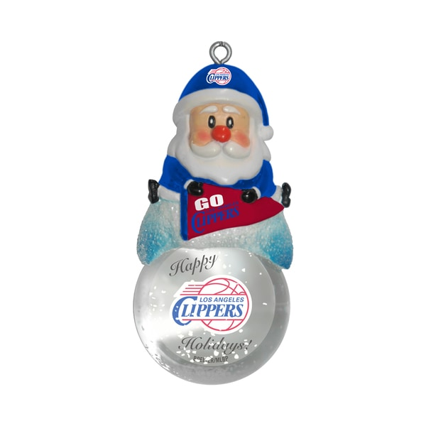 Los Angeles Clippers Santa Snow Globe Ornament