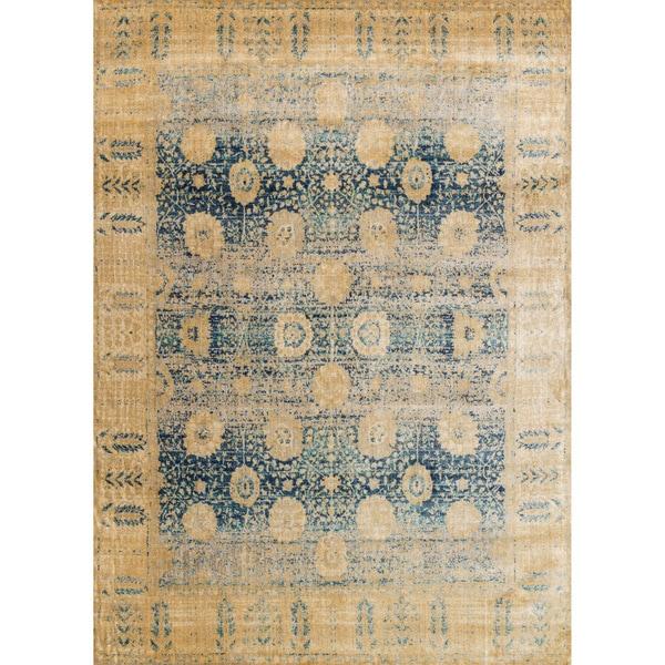 Contessa Blue/ Gold Rug (9'6 x 13')